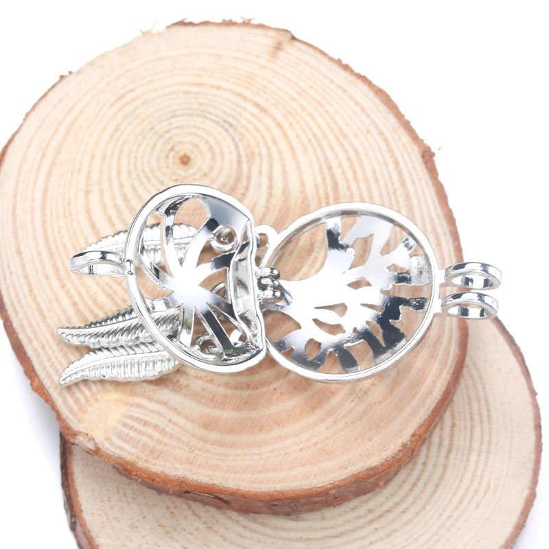 6pcs Silver Dreamcatcher ต้นไม้กรงไข่มุกเครื่องประดับทำลูกปัดจี้น้ำมันหอมระเหย Diffuser Locket สำหรับ Oyster Pearl