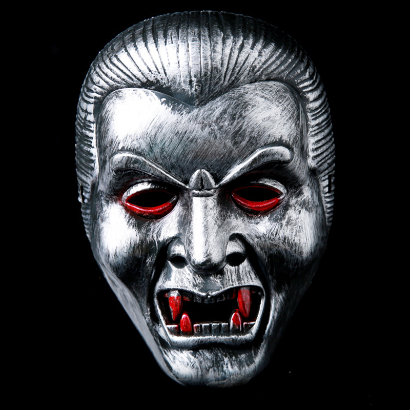 New vampire face mask Big devil shape plastic masks Halloween intimidation Dracula mask party Chinese zombies masks Qing Dynasty