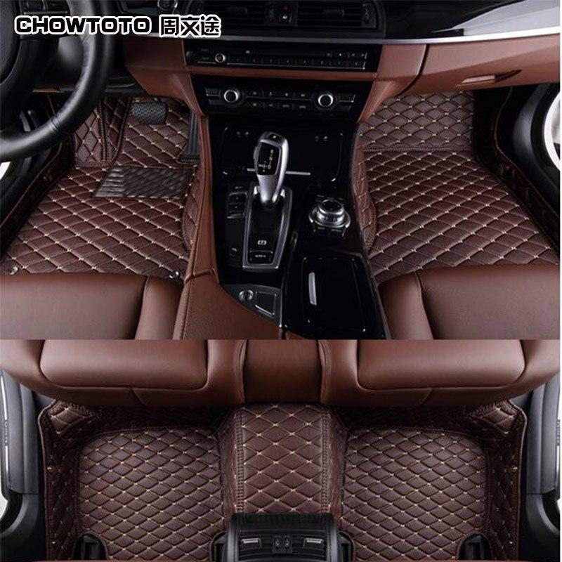 CHOWTOTO AA Custom Special Floor Mats For Toyota Highlander 7seats Waterproof Carpets For Highlander 7 Seats Model Foot Mat