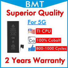 BMT Original 5pcs Superior Quality Battery for iPhone 5 5G 1440mAh 100% Cobalt Cell TI CPU 3.7V 0 cycle replacement