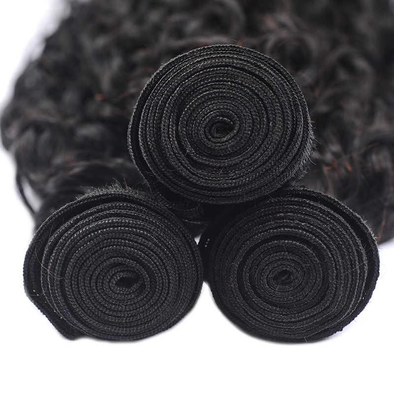 Pinshair человеческие волосы плетение пучки волос натуральный черный пучки волос влажная волна наращивание 1/3/4 шт. Non-Remy индийские пучки волос