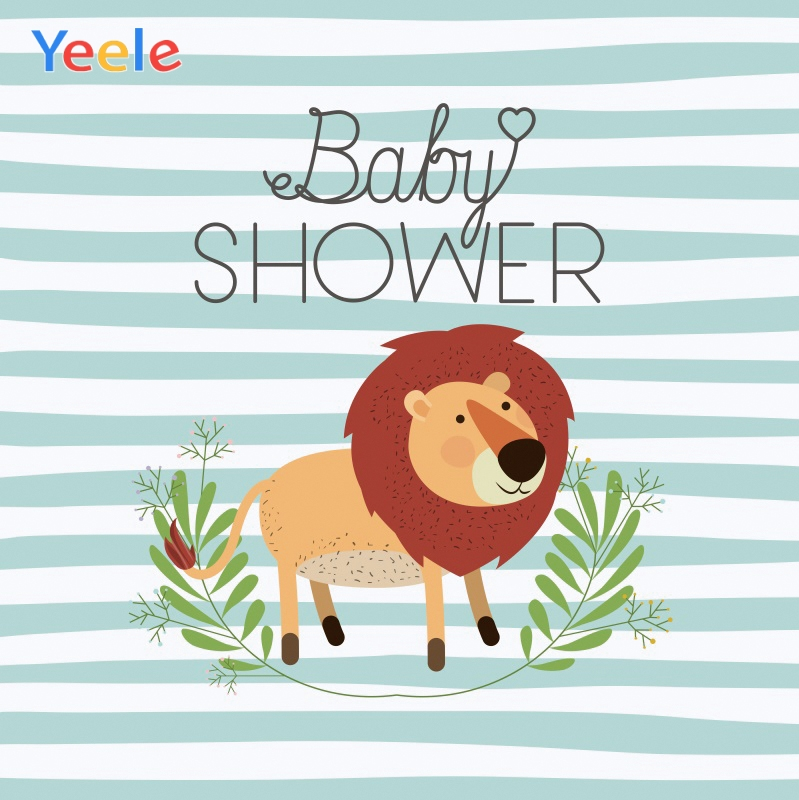 Yeele Baby shower Lion Stripes Childroom Painting Photography Backdrops Personalized Photographic Backgrounds For Photo Studio in Background from Consumer Electronics