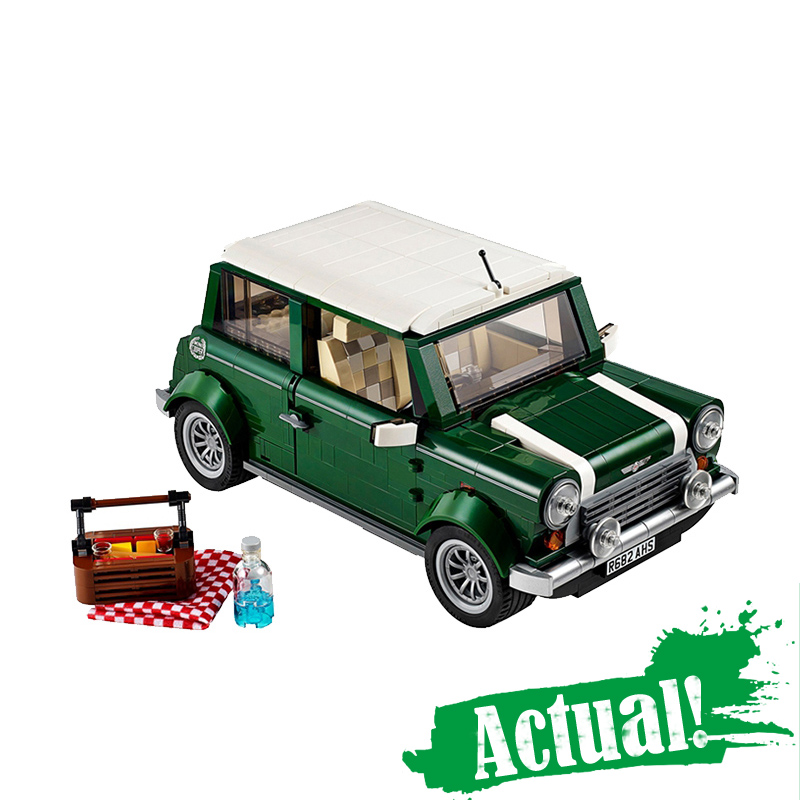 Yile technic creator MINI 002 T1 Classic Cooper City Beetle Model Building Kits Blocks Bricks Toys for children gifts 10242 a toy a dream lepin 15008 2462pcs city street creator green grocer model building kits blocks bricks compatible 10185