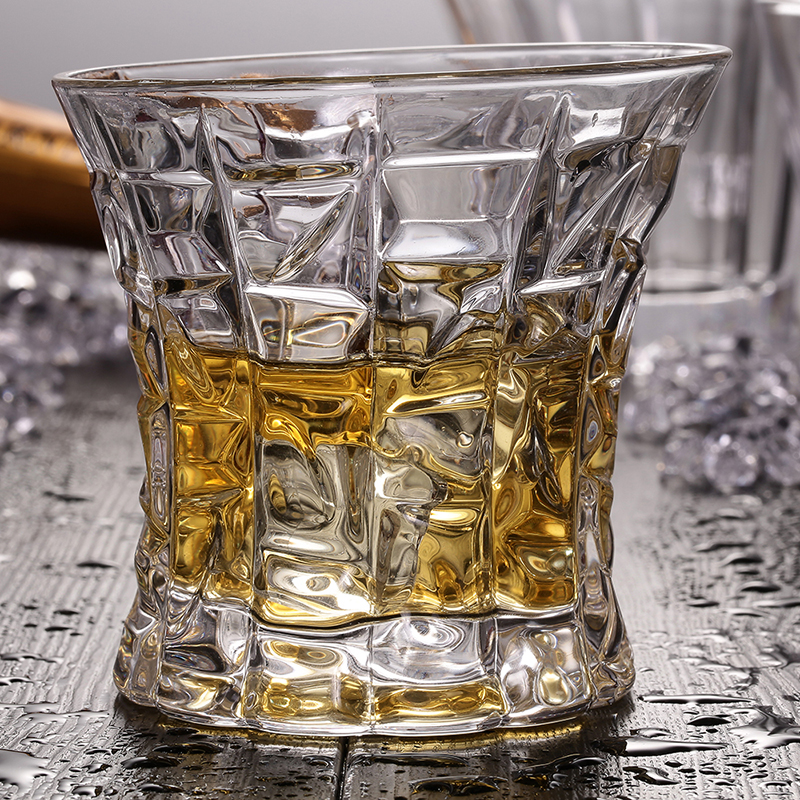Bevel Whisky Glasses 7OZ Lead-Free Vaso Copos For Drink Beer Water Wine Brandy Wedding P ...