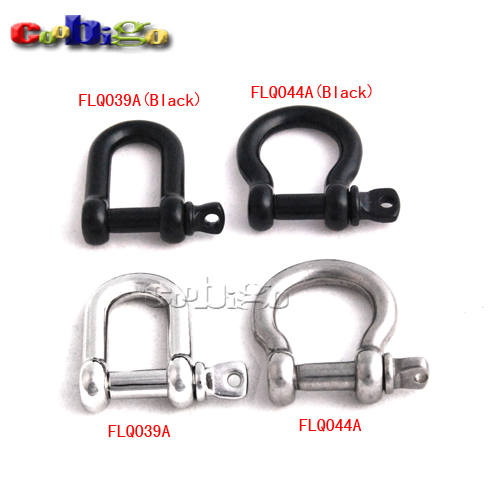 50pcs Bow Anchor Shackle D Shackle Screw Pin M5 Alloy 210kg Tensile Test Data Paracord Bracelet