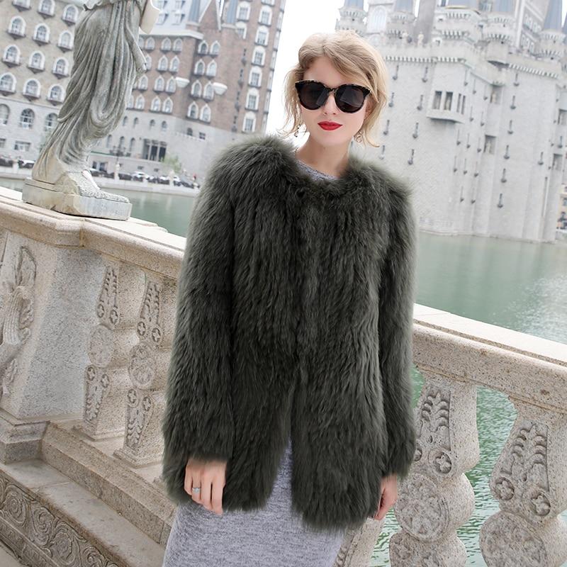 Luxury Women\'s Coat Jackets Real Fox Fur Jackets For Girls Natural Fox Fur Outerwear Female Winter Coats Warm (8)