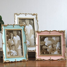 High Quality American Style Photo Frame Wedding Desktop Picture Frames Living Room Home Decor Resin Popular Gift