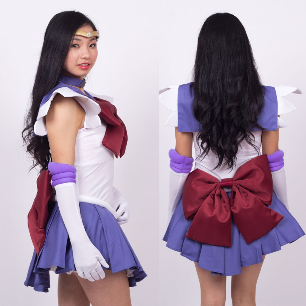 Halloween Party Sailor Moon Sailor Saturn Tomoe Hotaru Fighting Uniform Anime Cosplay Costme