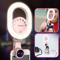 Ulanzi Selfie Ring Light Celular Photography USB Rechargeable Wide Angle Lens For IPhone 8 Smartphone Youtube