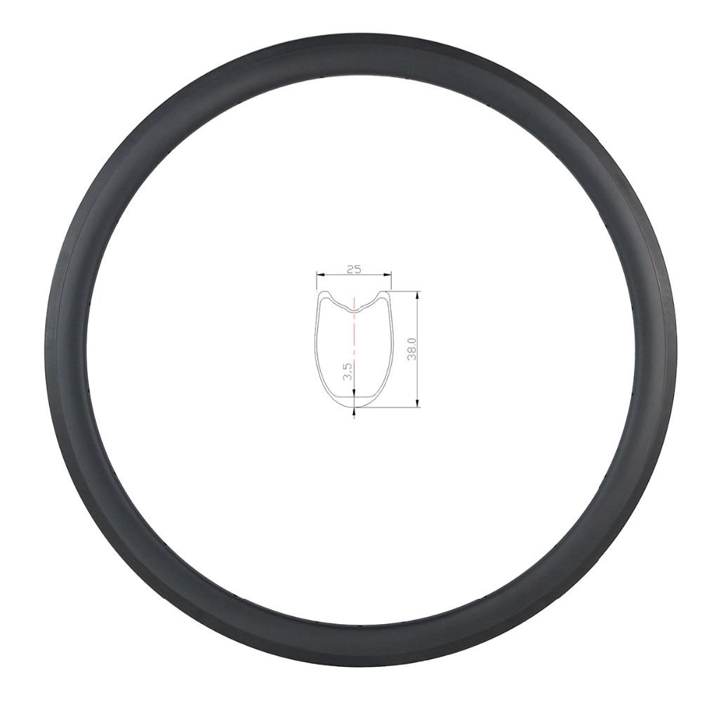 700c 38mm Tubular U Shape Road Bike Carbon Rim 25mm Wide Basalt Brake Track 3k Ud 12k Matte Glossy 16 18 20 21 24 28 32 36 Holes High Resilience