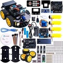 Arduino UNO R3 Projekt Smart Roboter Car Kit mit Ultraschallsensor, bluetooth-modul, ect Pädagogisches Spielzeug Auto Mit CD