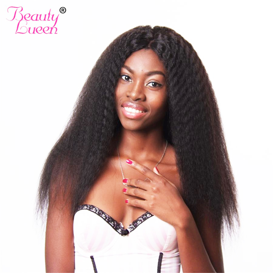 Straight hair perm products - 2017 New Kinky Straight Hair Bundles Natural Color Mongolian Human Hair Weave Bundles Non Remy Can Be Dyed Beauty Lueen Hair