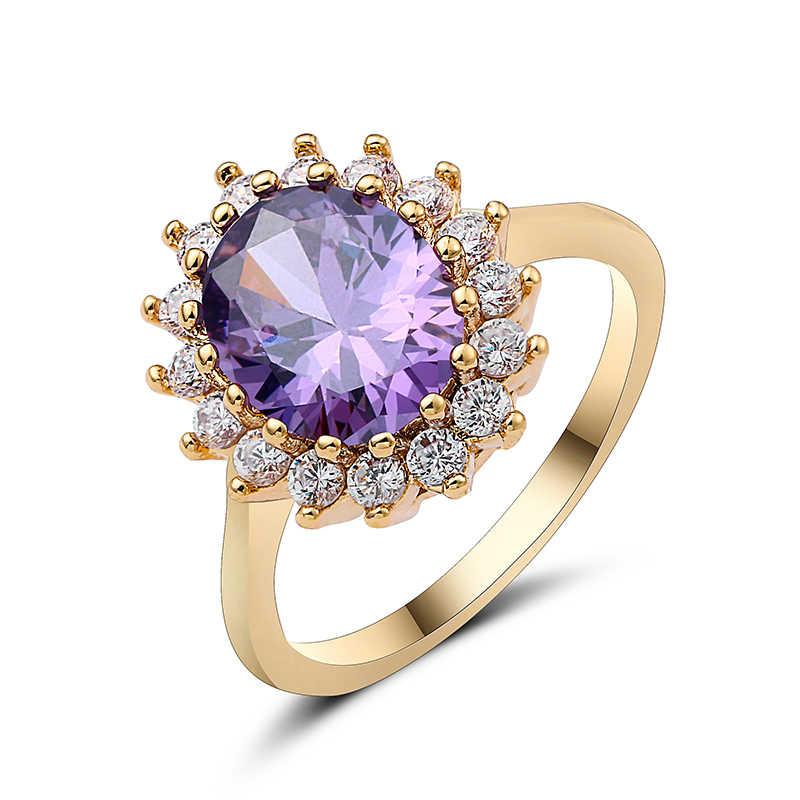 Luksusowe 3.5 ct duży owalny Cut AAA cyrkonią pierścień z mikro betonowa pierścień cz dla kobiet moda biżuteria kobiece pierścienie 10 rodzajów kwiatowy pierścień