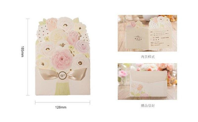 20 Teile/los Rose Blume Einladungskarte Folding Stil Blume Hochzeit Heirat  Jahrestag Feier Party Einladungskarten In 20 Teile/los Rose Blume  Einladungskarte ...