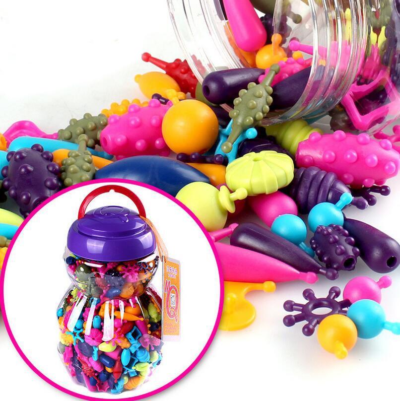 150-500pcs Vroče DIY zapestnice trak trakovi Raznolikost kroglic - Igra igranja vlog - Fotografija 4