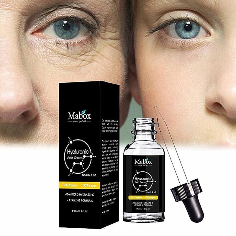 MABOX Hyaluronic Acid Serum + Vitamin C Serum Anti-Aging Moisturizing Skin Care Firming Treatment Whitening Moisturizing