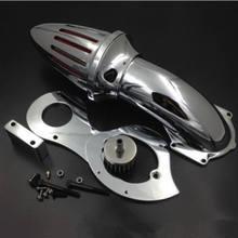 Chrome kit filtro de entrada ar da motocicleta mais limpa para honda shadow 600 vlx600 1999