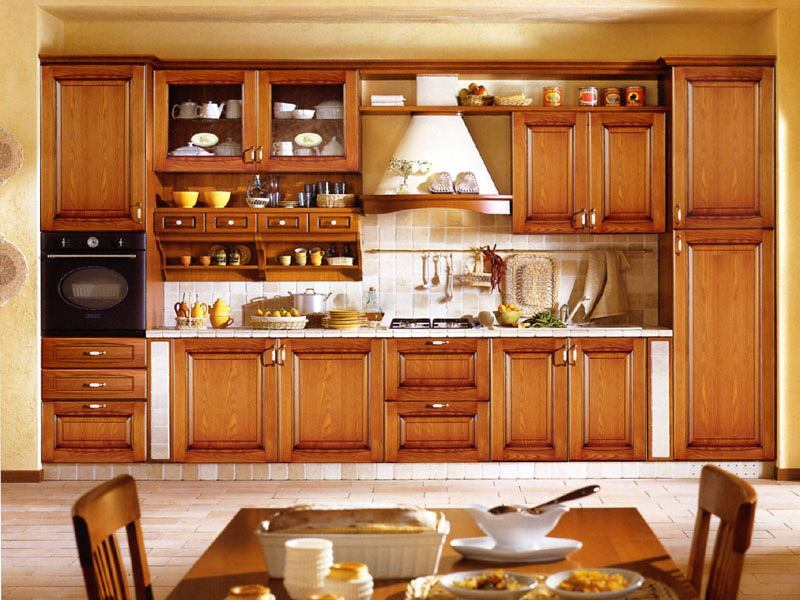 Custom solid wood kitchen furniture