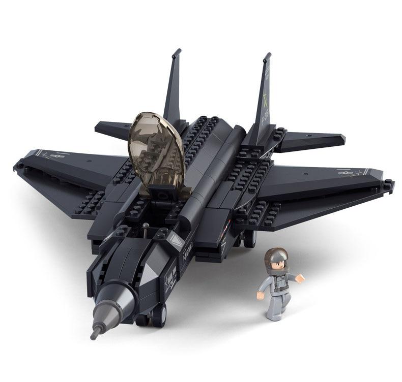 Partihandel 252st Byggnadsblock Lightning 2 Fighter Fancy toys DIY Creative Educational Toys Boys Gift
