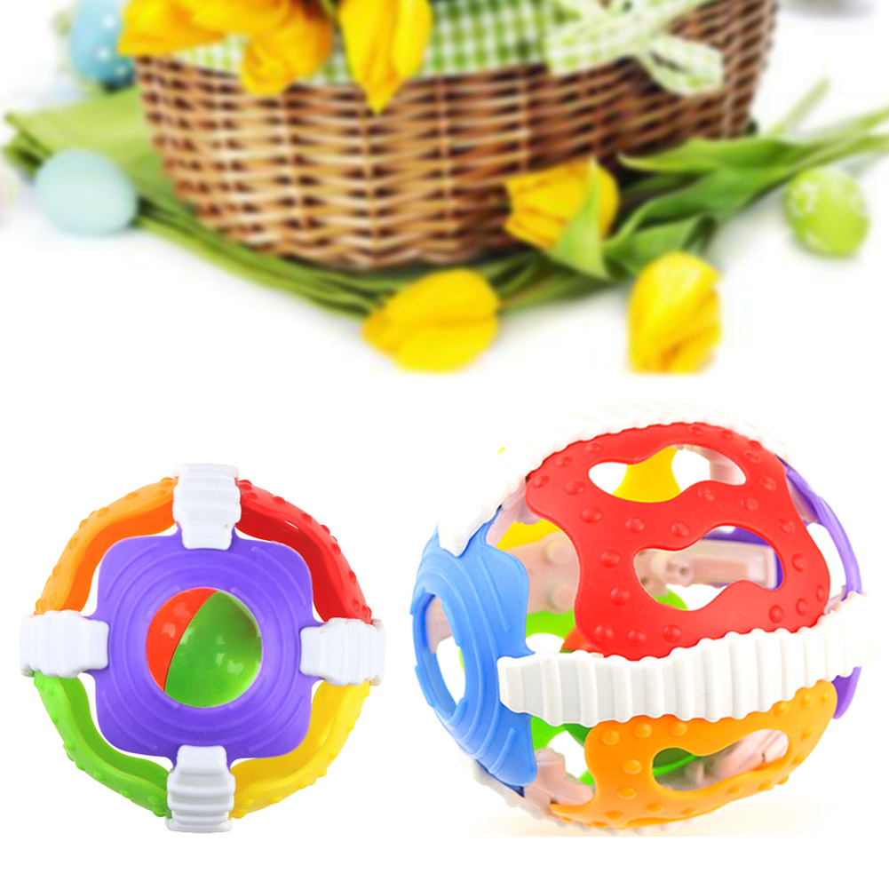 1Pc Baby Rattles Hand Bell Ball Activity Grasping Toy Baby Kids Intelligence Develop Educational Toy Gifts