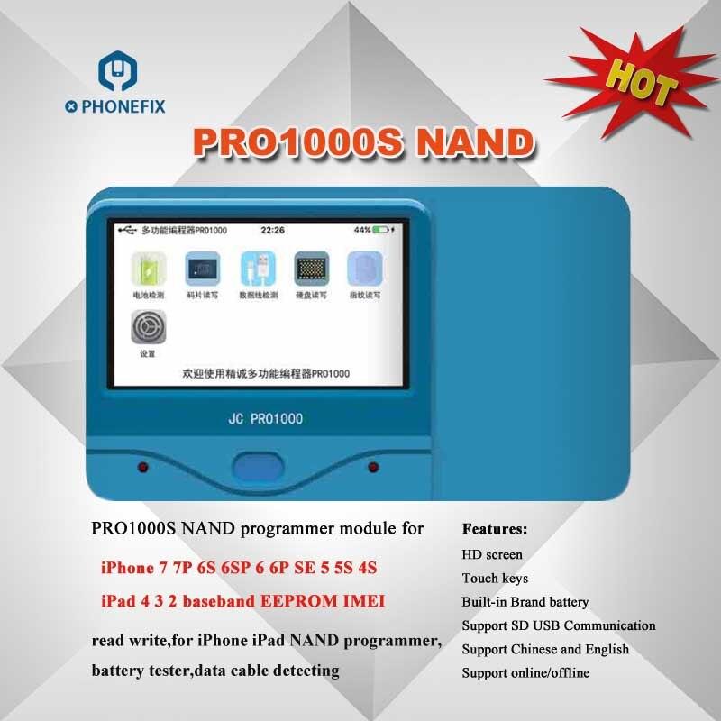Outil de réparation d'erreur de lecture en série JC Pro1000S JC P7 PCIE NAND programmeur HDD pour iPhone XS Max 8X7 7 P 6 6 S Plus tous les iPad - 2