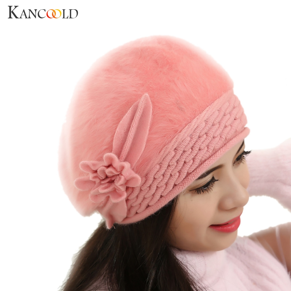New Winter Warm Wool Knitted Hat Fashion Womens Slouch Beanie Lady Soft Baggy Oversize Knit Crochet Caps Dec14 knit men s women s baggy beanie oversize winter warm hat slouchy chic crochet knitted cap skull