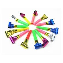 10 шт./лот Шум Maker маленькая выброса пластиковый свисток детский день рождения фитинги вечеринок декоративные игрушки