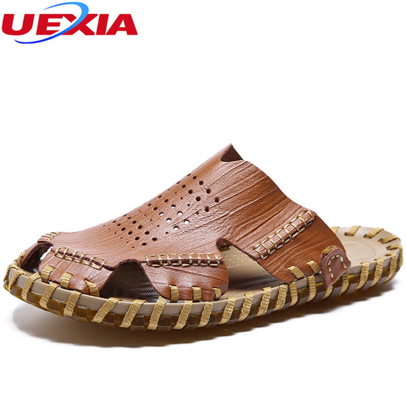 UEXIA 2018 Summer Beach Casual Men Shoes Walking Comfortable Wear-Resisting For Male Sandals Adult Designer Fashion Sandal