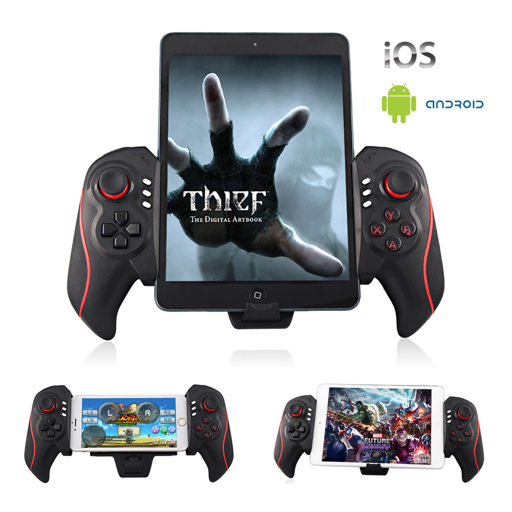 Wireless Gamepad Bluetooth Telescopic Game Gaming Controller Gamepads Joystick For Pad Iphone ipad Pod PC Android