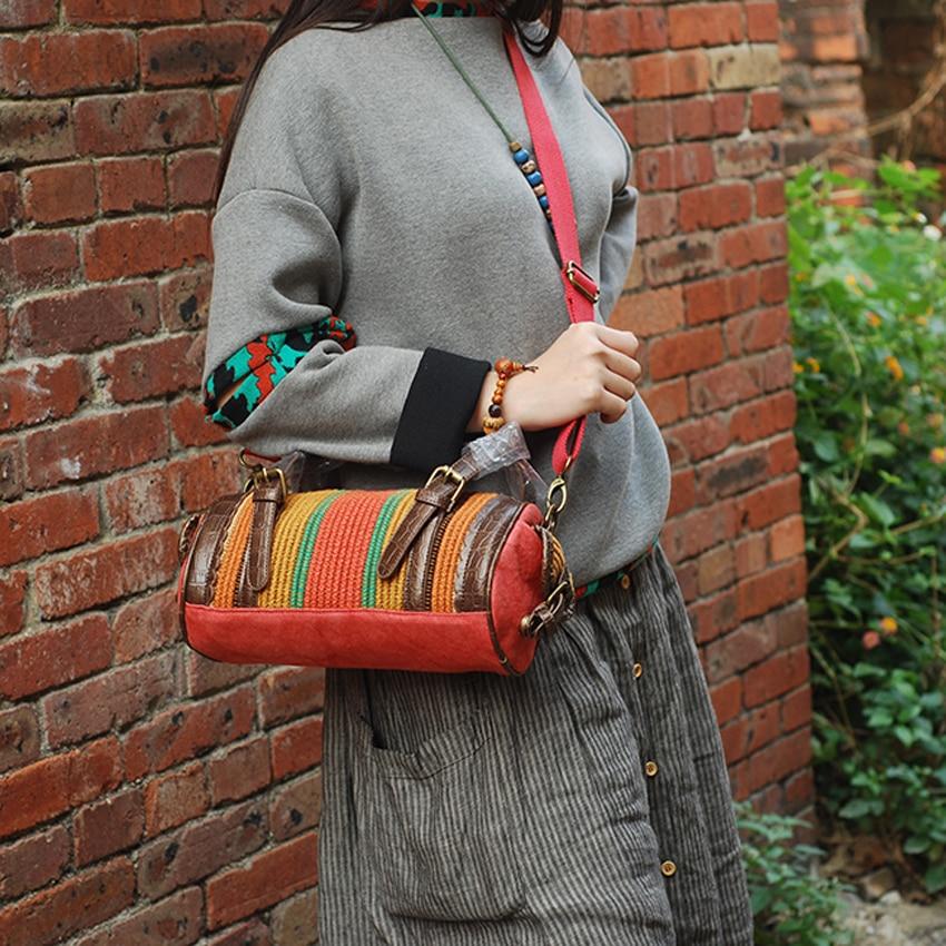 YUBIRD Moda Canvas Bag Femei Geantă de mână Traversă Geantă de - Genți