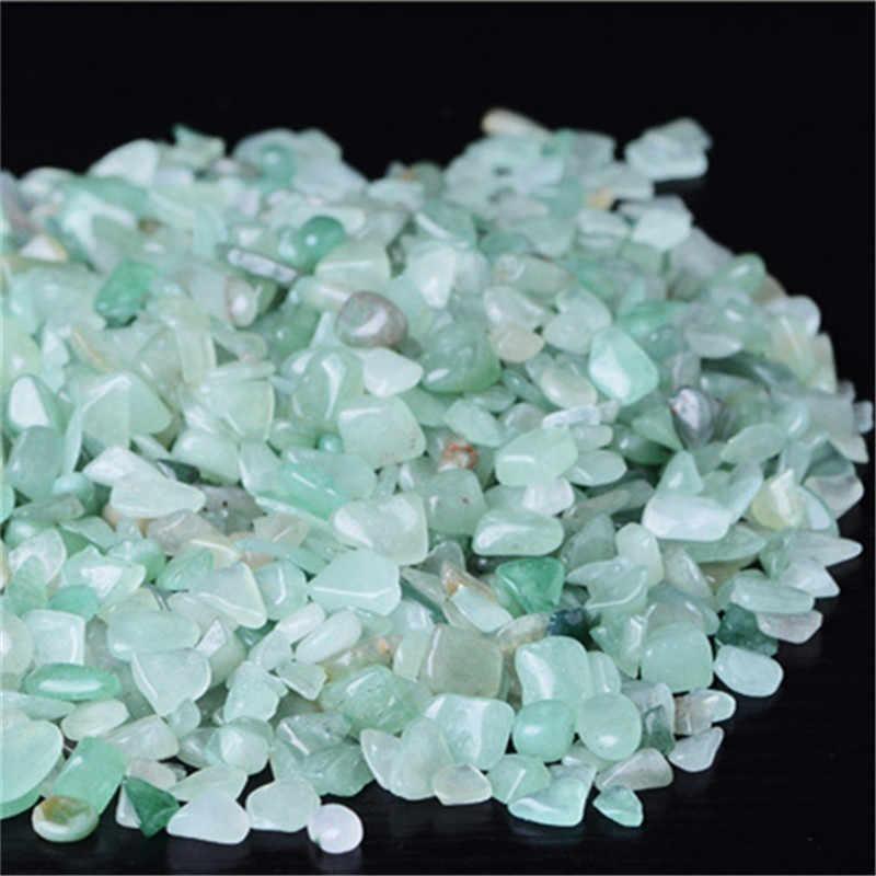 7 色クリスタルビーズ 1 パック 100 グラム天然水晶砕石黒曜石粉末結晶ビーズジュエリー作成卸売 z4