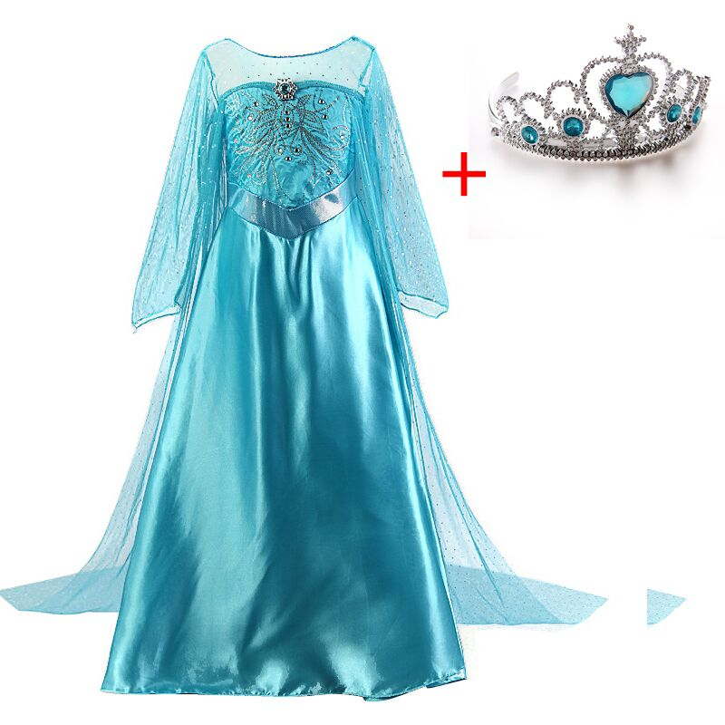 Girls Elsa Dress Cinderella Halloween Cosplay Costume Fancy kids Party Fantasia Menina Princess Christmas Snow White Cosplay hot new year children girls fancy cosplay dress snow white princess dress for halloween christmas costume clothes party dresses
