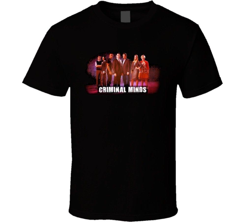 Футболки Битник О-образным вырезом Мыслить как преступник групповой снимок ТВ серии футболка