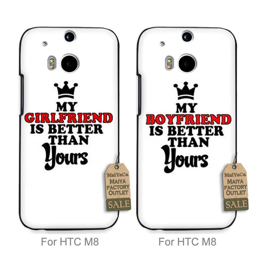 Maiyaca Хит продаж дизайн моды кожа тонкий пару ячейки для случая HTC Один M8 мой парень лучше, чем ваш
