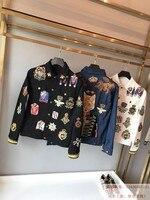 WE08818 модные Для Мужчин's Пальто и куртки 2018 взлетно посадочной полосы Элитный бренд Европейский Дизайн вечерние стиль Мужская одежда