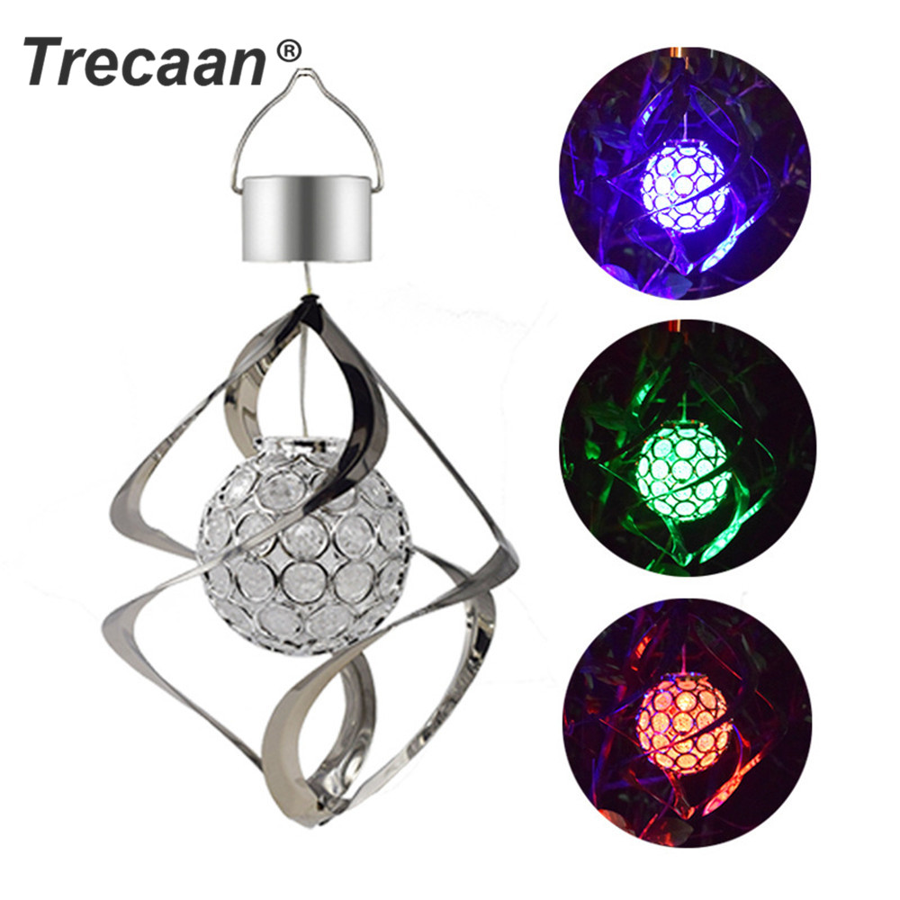 Solar Powered LED Wind Chime Light Color Changing Outdoor Garden Hanging Decor