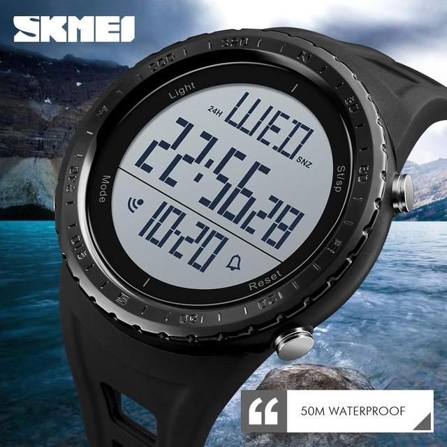 SKMEI Men Sport Watch Outdoor Swimming Diving Digital Watch Electronic Wrist Wat