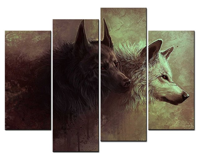 home office artwork. 4 Panels Wall Decorations For Living Room Wolf Home Office Artwork Unframed  Canvas Photo Prints Home Office Artwork P