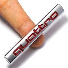 New 3D Car Quattro Logo Sticker Badge Chrome Emblem Accessories for Aud-i A3 A4 A5 A6 A7 A8 S3 S4 S5 S6 Q3 Q5 Q7 TT R8 RS