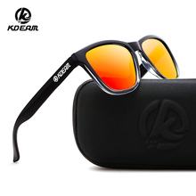 KDEAM Lightweight Polarized Sunglasses Unisex Sleek Mirrored Shades Hollywood Stars Street Sun Glasses With Case KD0717