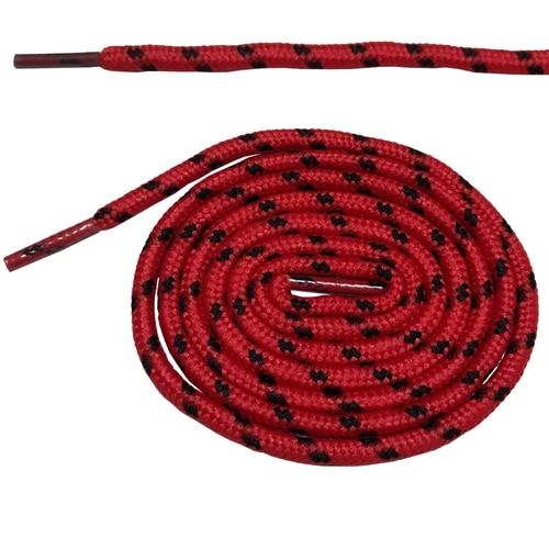 Круглые ботильоны без шнурков шнурки с точками 10 цветов 180 см/70,5 дюйма - Цвет: red and black