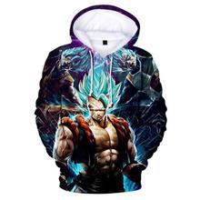 Japan Anime Dragon Ball Z DBZ Pocket Hooded Sweatshirts Men Super Saiya Kid Goku Vegeta Print 3D Hoodie Students Teen Clothes