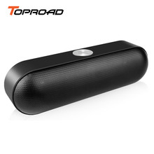 TOPROAD Portable Bluetooth Speaker Wireless Stereo Sound Boombox with Microphone Support TF AUX FM Radio Speakers For Phone PC(China)