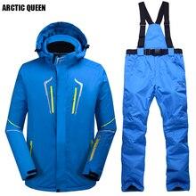ARCTIC QUEEN мужской лыжный набор ветрозащитный водонепроницаемый Сноубординг Костюмы Набор Мужская горнолыжная куртка+ брюки