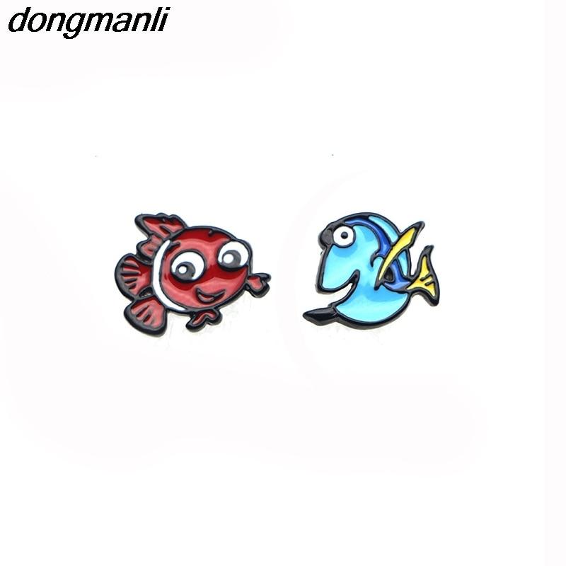 P1379 Dongmanli 귀여운 찾기 도리 여성을위한 도리와 니모 귀걸이 패션 파티 우아한 스터드 귀걸이 아이 소녀 선물 쥬얼리