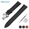 Couro genuíno faixa de relógio 24mm para sony smartwatch 2 sw2 butterfly buckle strap correia de pulso pulseira marrom preto + primavera Bar