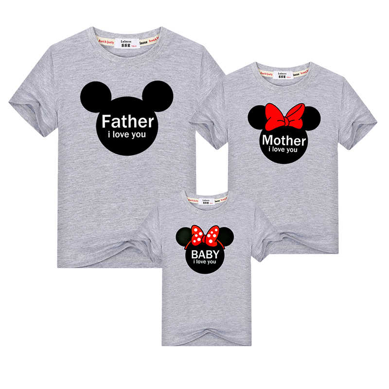 2db713d5 ... Father mother daughter baby t-shirt Family Matching Outfits mom dad  girl match look clothes ...