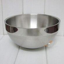 Large double layer stainless steel salad bowl mixing bowl fruit plate fruit bowl multi-purpose bowl