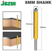 1 шт. 8 мм хвостовик 3 «для промывания и подравнивания фрезы с подшипником для дерева шаблон бит карбида вольфрама фрезерный резак для дерева