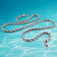 Fashion Men jewelry 925 sterling silver necklace for men,twist long silver chain long necklace,Wide 5MM
